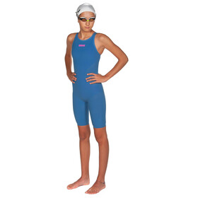 arena Powerskin R-Evo Full Body Short Leg Open Back Badeanzug Mädchen blue/powder pink